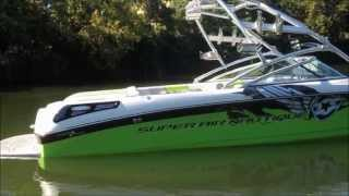 2007 Super Air Nautique 236- Subelime Green/ Onyx Black/ Silver Cloud On Water