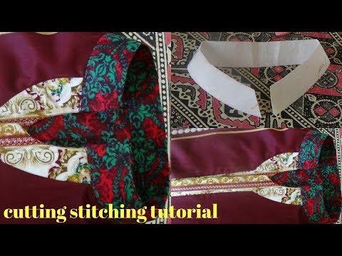 How To Make Trendy & Stylish Placket ,neck Line Design Cutting Stitching Tutorial
