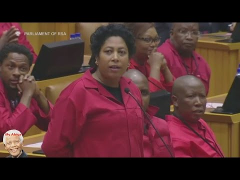 EFF Cause Chaos In Parliament. Jacob Zuma Can