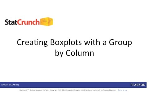 StatCrunch: Creating Boxplots with a Group by Column