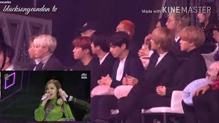 4K BTS Reaction To BLACKPINK PLAYING WITH FIRE+AS IF IT'S YOUR LAST @32nd GOLDEN DISC AWARDS 2018