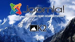 видео Обзор компонента К2 для Joomla