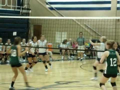 Carroll Co. girls' volleyball game against Patrick County
