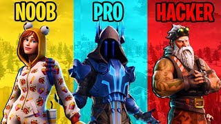 NOOB vs PRO HACKER-Battle Royale Fortnite (7 ª temporada de compilação)