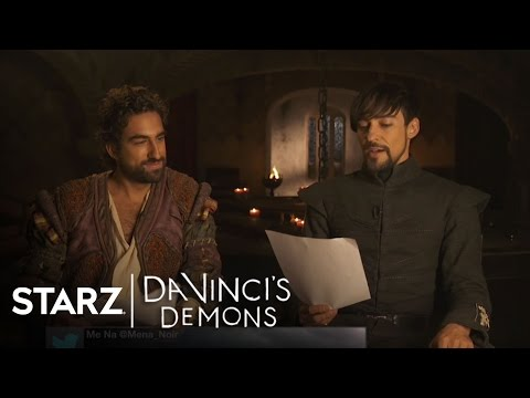 Da Vinci's Demons   Tweets with Greg Chillin and Blake Ritson  STARZ