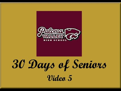 Paloma Valley High School 30 Days of Seniors Video 5