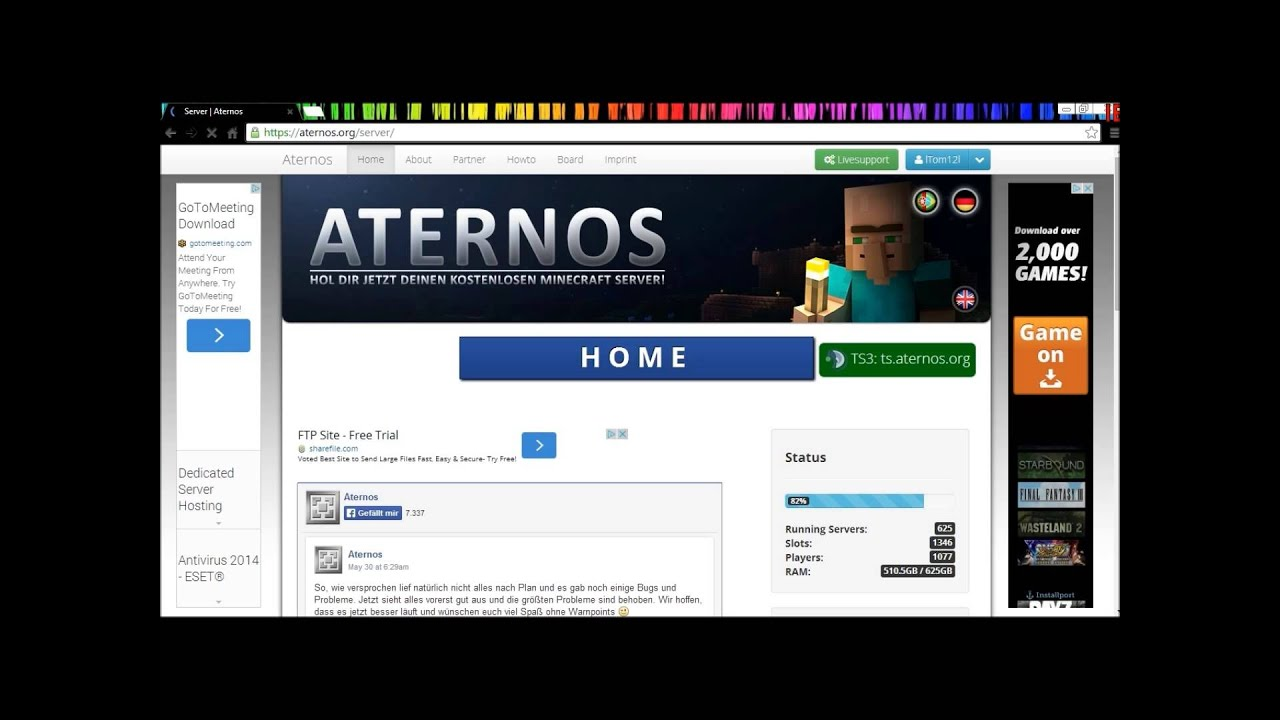 Free Minecraft Hosting {Aternos} - YouTube