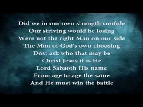 A Mighty Fortress Is Our God (w/ lyrics)