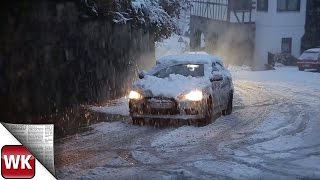 Wintereinbruch im Rheingau-Taunus-Kreis