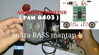 Cara membuat Power amplifier super mini biaya Murah suara nge- bass