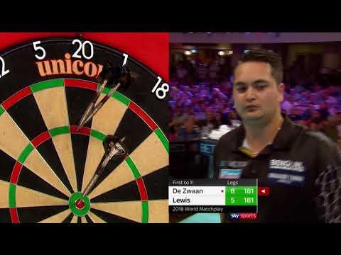Ridiculous leg of darts! Lewis mirrors every De Zwaan visit!