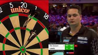 Ridiculous leg of darts! Lewis mirrors every De Zwaan visit!