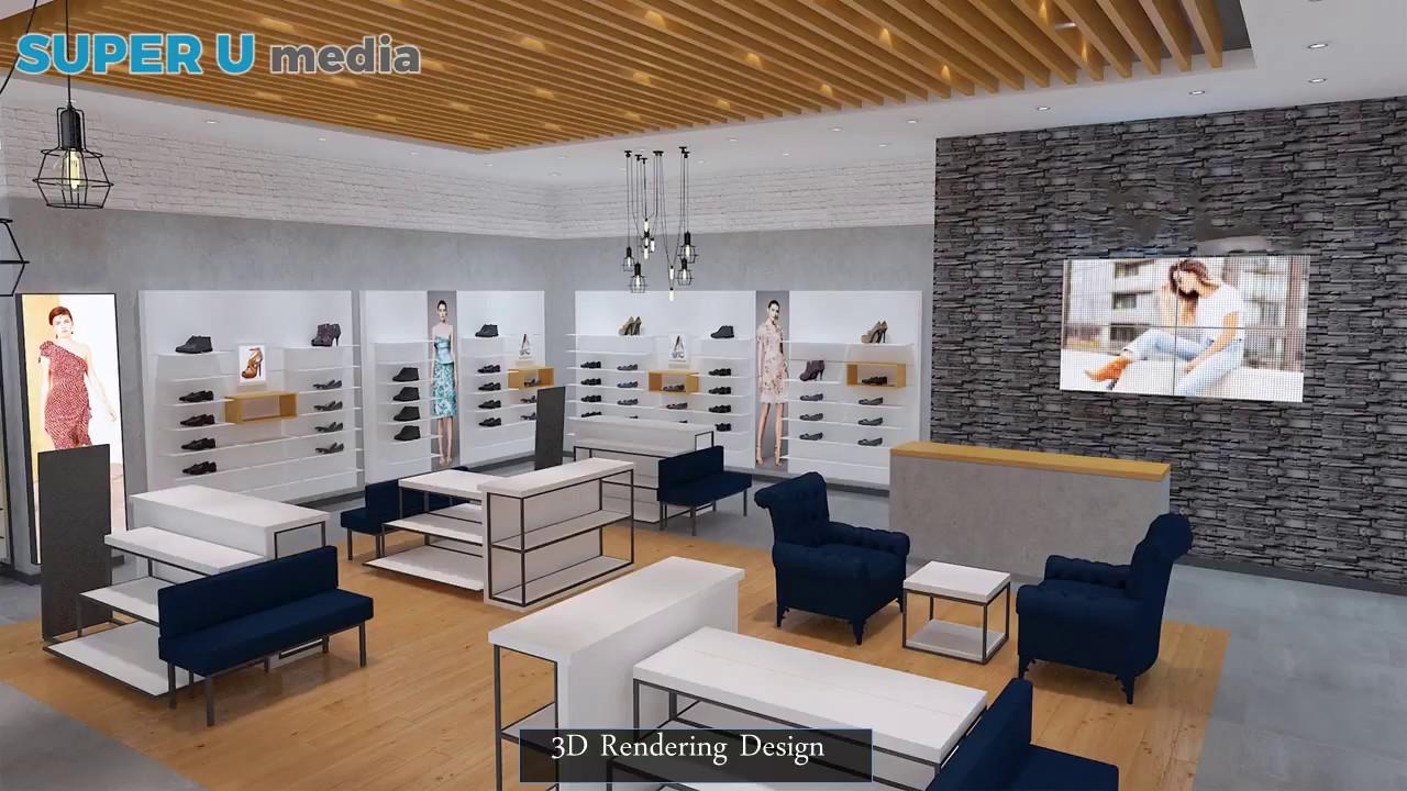 Super U Project: Custom Retail Womenu0027s Shoes Shop Decoration Interior Design  For Sale