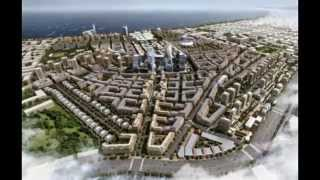Bakı 2020 ağ şəhər lahiyəsi,Xəzər adaları,Bakı şəhəri.Baku 2020 white city,Khazar Islands,Baku city.