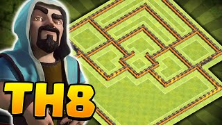 Clash of Clans - NEW Update TH8 Farming BASE!! CoC Best Town hall 8 Hybrid/Trophy BASE!!