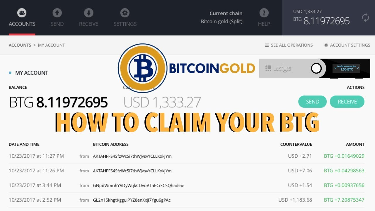 Ledger Bitcoin Gold
