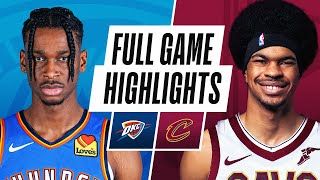 THUNDER at CAVALIERS | FULL GAME HIGHLIGHTS | February 21, 2021