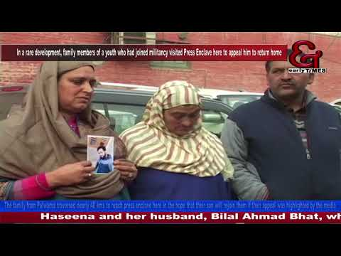 Another militant's parents appeal their son to return home