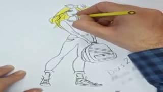 Barbie Çizimi ve Boyaması - Barbie ve okul çantası - Barbie Draw and Coloring Pages - School bag