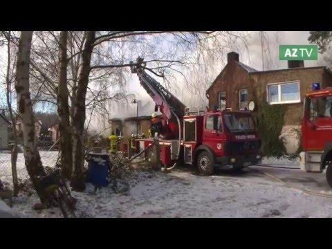 Haus in Schernebeck brennt komplett aus