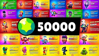 50.000 GEMS💎 MEGA BOX OPENING! 😱 Unlocking EVERY BRAWLER in Brawl Stars!