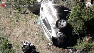 Los Angeles, grave incidente a Tiger Woods: le immagini dall'alto