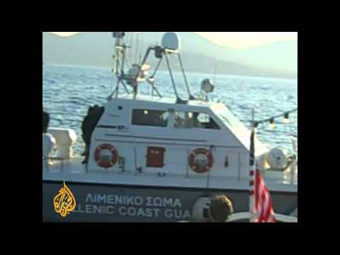 Gaza flotilla ship turned around by Greek coast guard