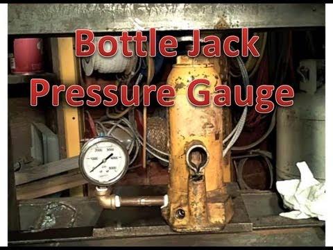 Adding pressure gauge to a bottle jack.