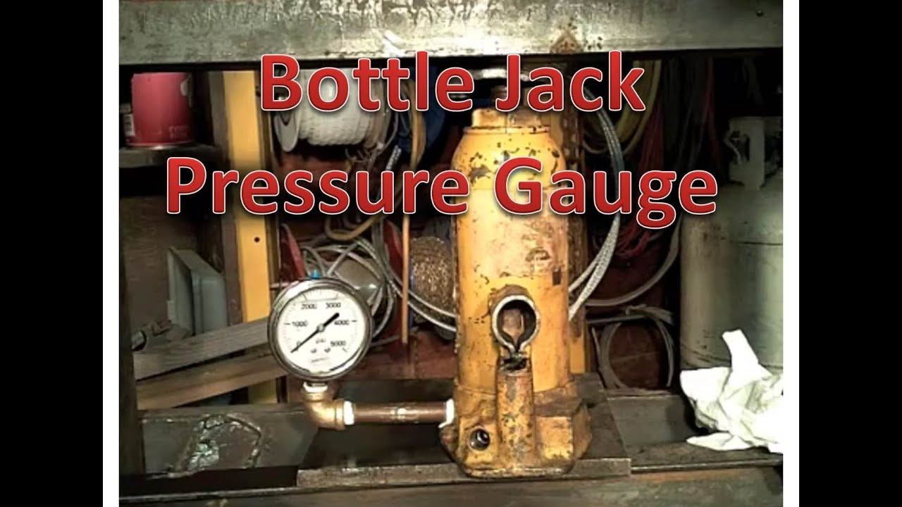 Adding Pressure Gauge To A Bottle Jack Youtube