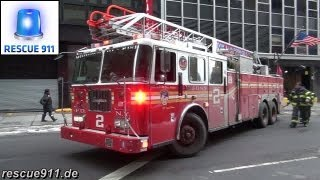 FDNY [Full house response] Ladder 2 + Engine 8 + Battalion 8