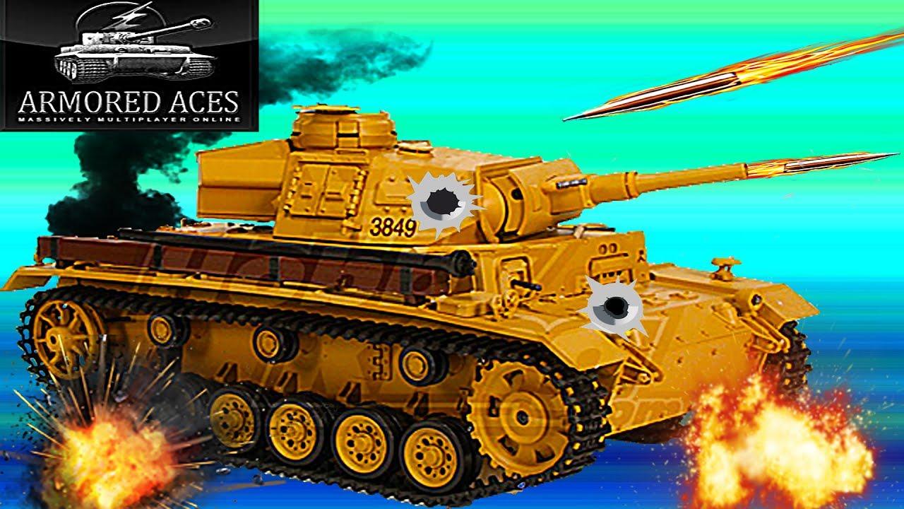 Мульт танки Armored aces #10 немецкий танк панцер 3 онлайн ...