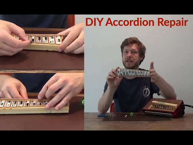 DIY Accordion Repair: Fix a weird sounding note (simple fix of blocked reed)