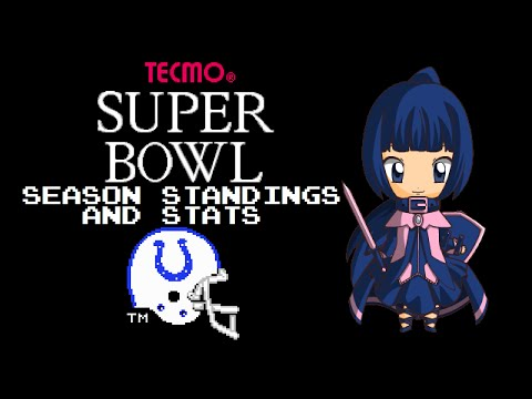 Tecmo Super Bowl (NES) - Indianapolis Colts - Season Standings and Stats