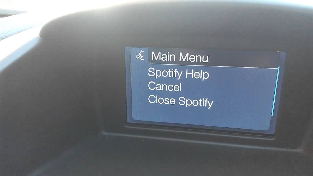 Ford Sync Spotify Problem Youtube