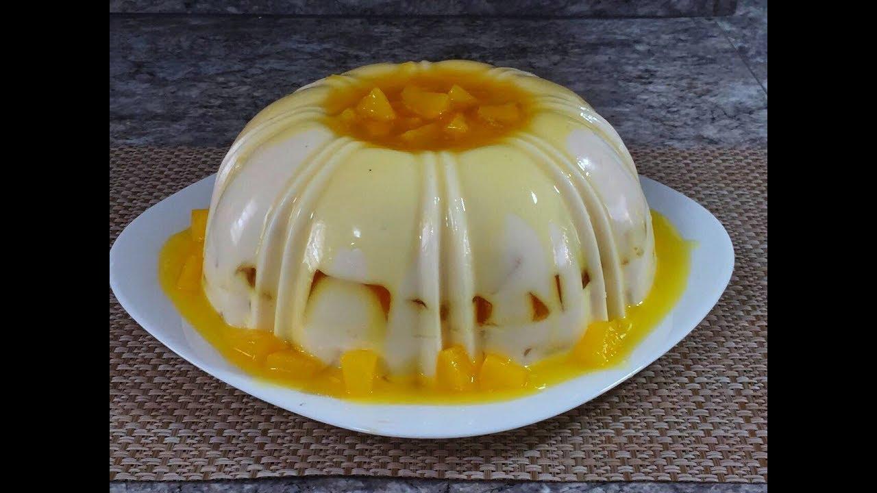 gelatina de leche de pina