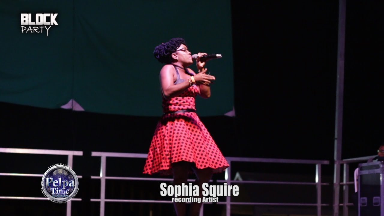 Sophia Squire Performance at labour day BLOCK PARTY OLD HARBOUR