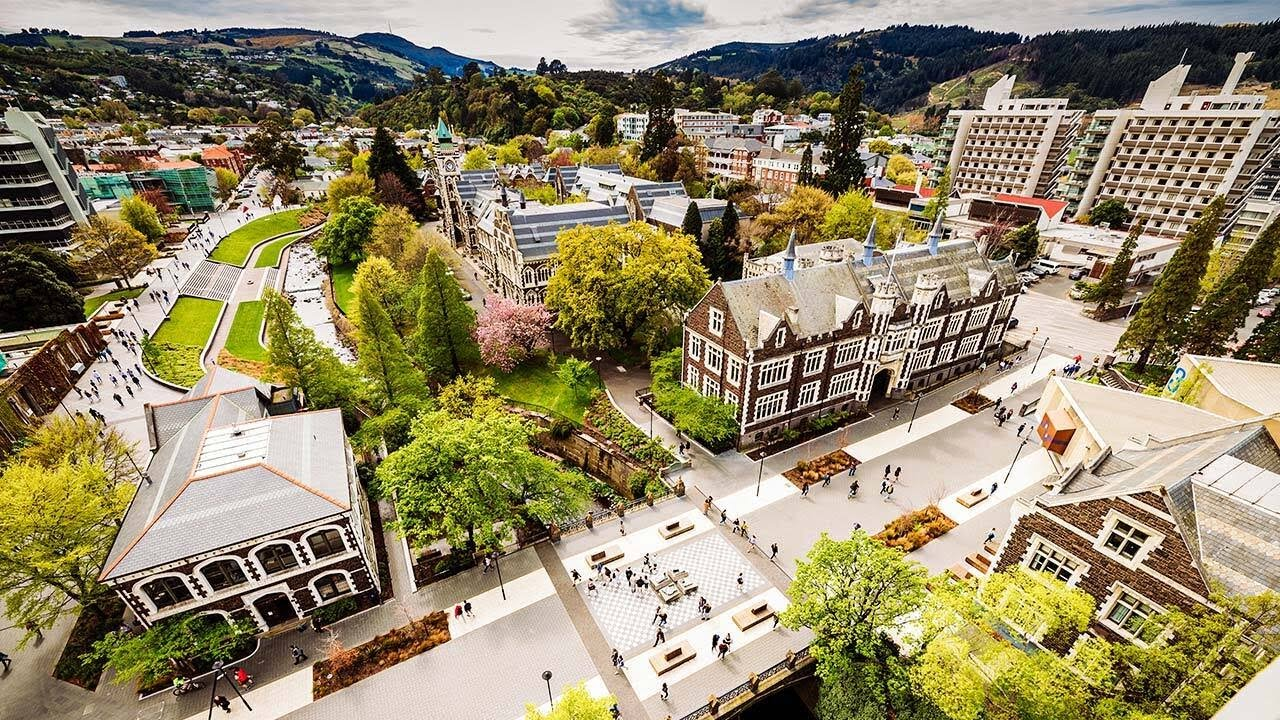 Watch a flyover of the Dunedin campus