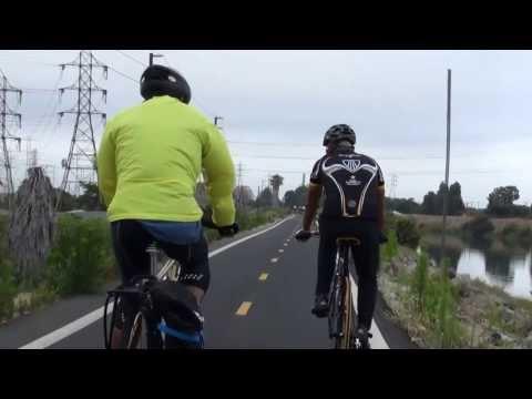 Biking along San Grabriel River to PCH