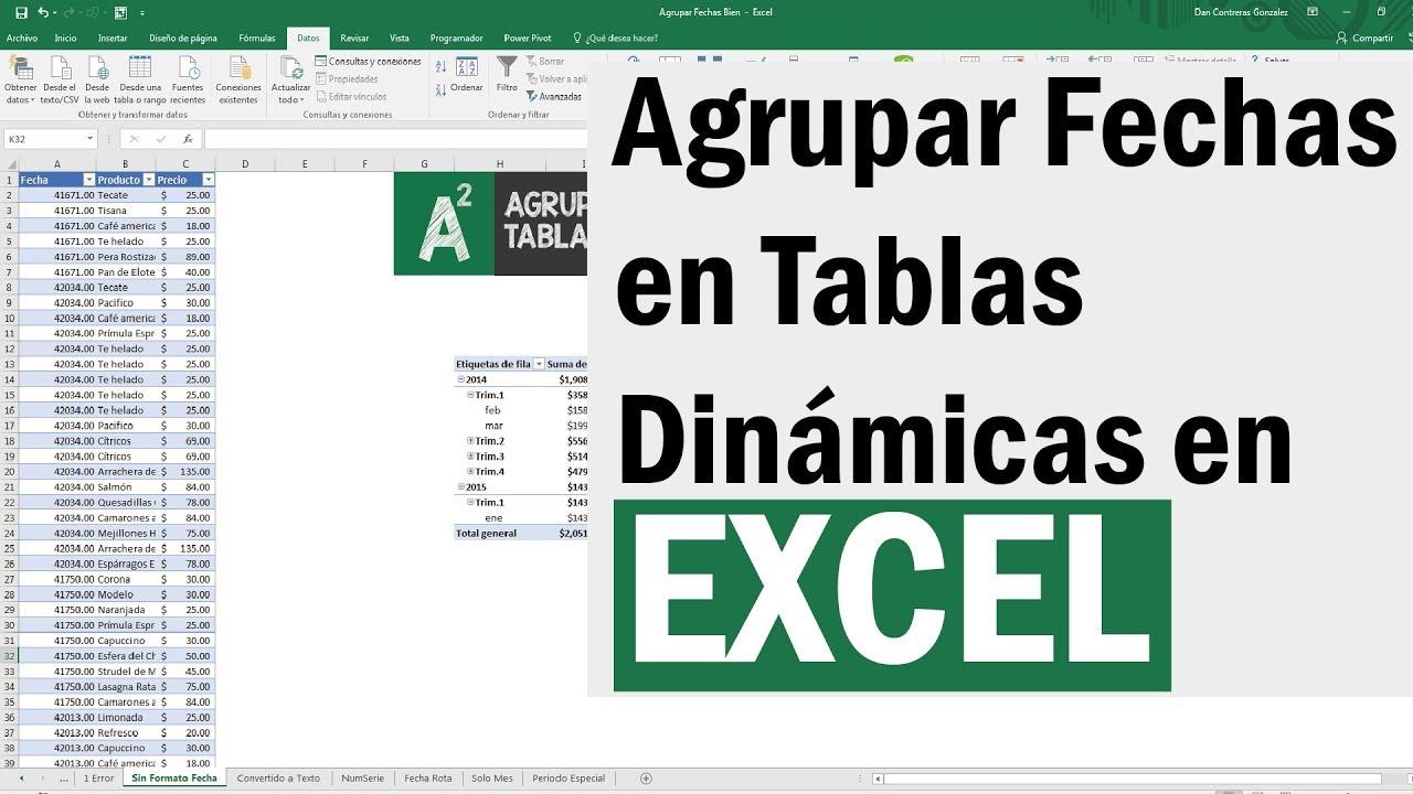 Download ¿Problemas con agrupar fechas en tabla dinamica en Excel? Resuelvelo usando BuscarV y otros trucos