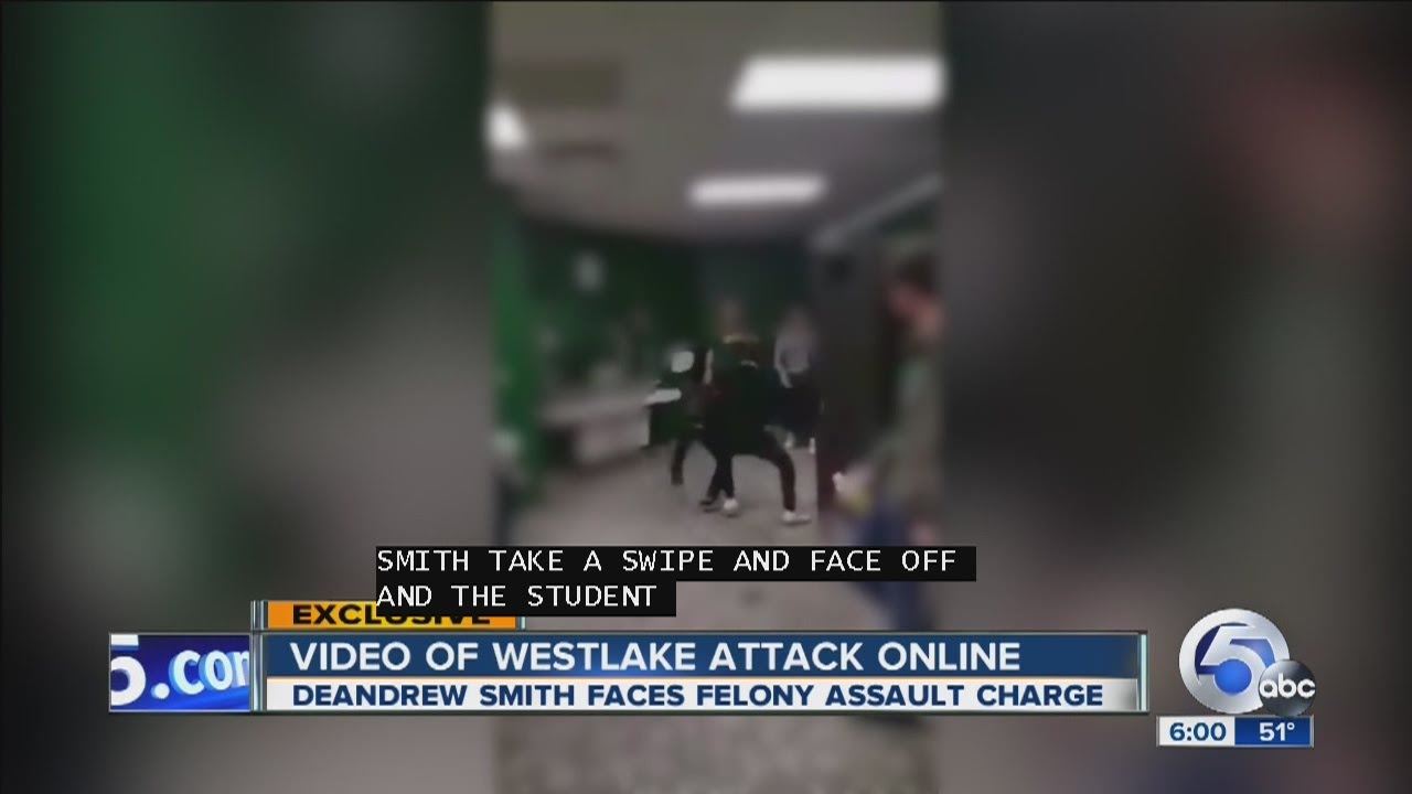 School Bathroom Fight video: cell phone video appears to show fight leading up to