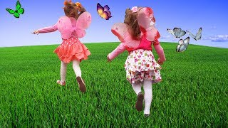 Учим цвета с бабочками Превращение детей в красивых бабочек Learn colors witn butterfly