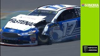 Stenhouse collides with Patrick. incurs heavy damage thumbnail