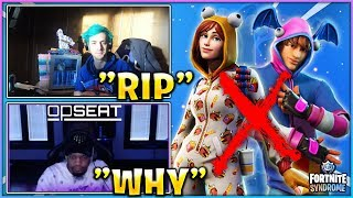 Streamers React To *NEW* ONESIE PAJAMA & KPOP Skins *REMOVED* From FORTNITE!