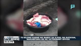 70 kilong karne ng baboy sa iligal na katayan, nakumpiska ng QC Veterinary Office