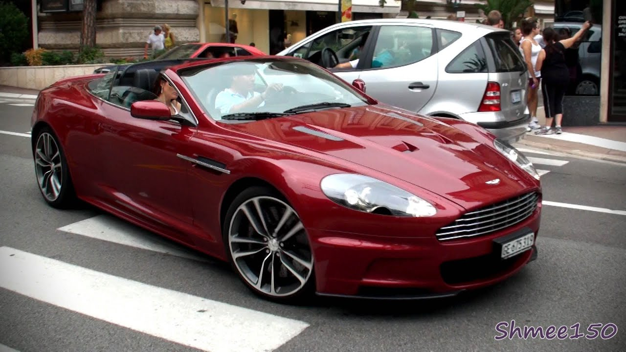 beautiful red aston martin dbs volante burbles in casino square youtube. Black Bedroom Furniture Sets. Home Design Ideas