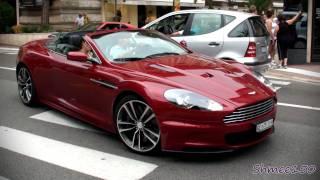 Beautiful Red Aston Martin DBS Volante - Burbles in Casino Square