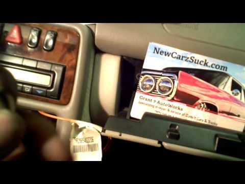 How to install an aftermarket radio into Mercedes Benz BOSE system Grant 7 AutoWorks NewCarzSuck.com