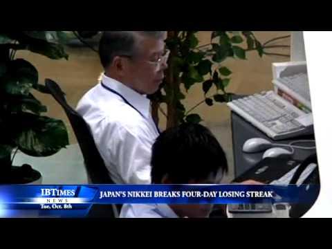 Japan's Nikkei Breaks Four-Day Losing Streak