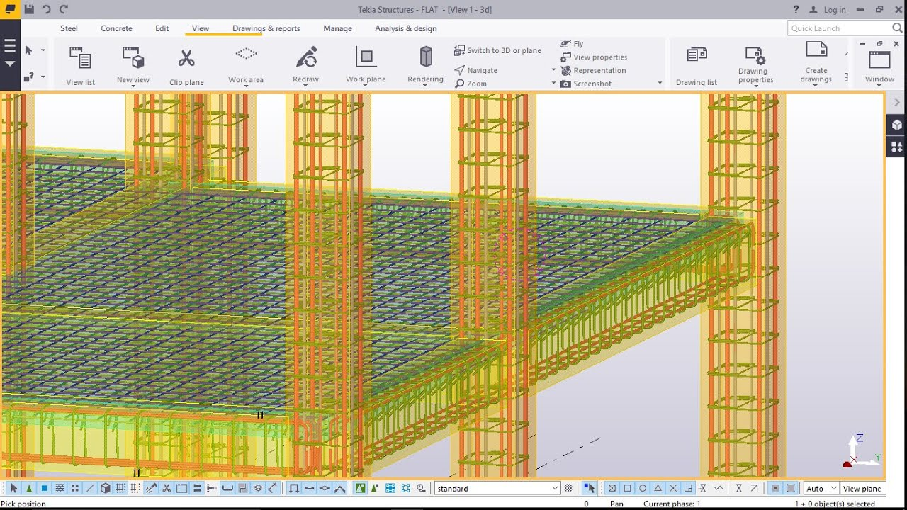 Rebar Placement in Columns on Modelled R.C.C. Structure in TEKLA ...