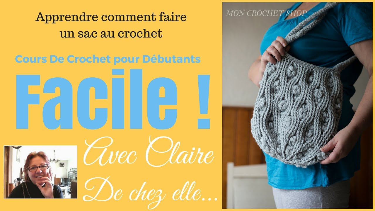 comment faire un sac au crochet youtube. Black Bedroom Furniture Sets. Home Design Ideas